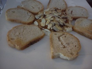 Baked Goat Cheese with Roasted Almonds